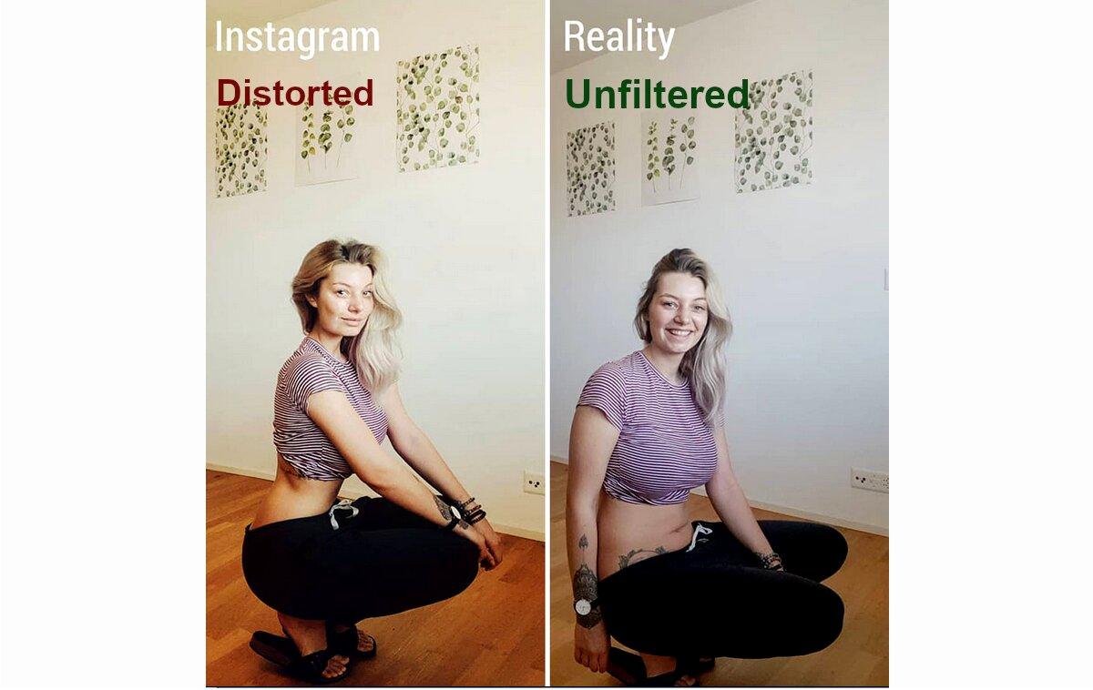 distorted perception v. reality