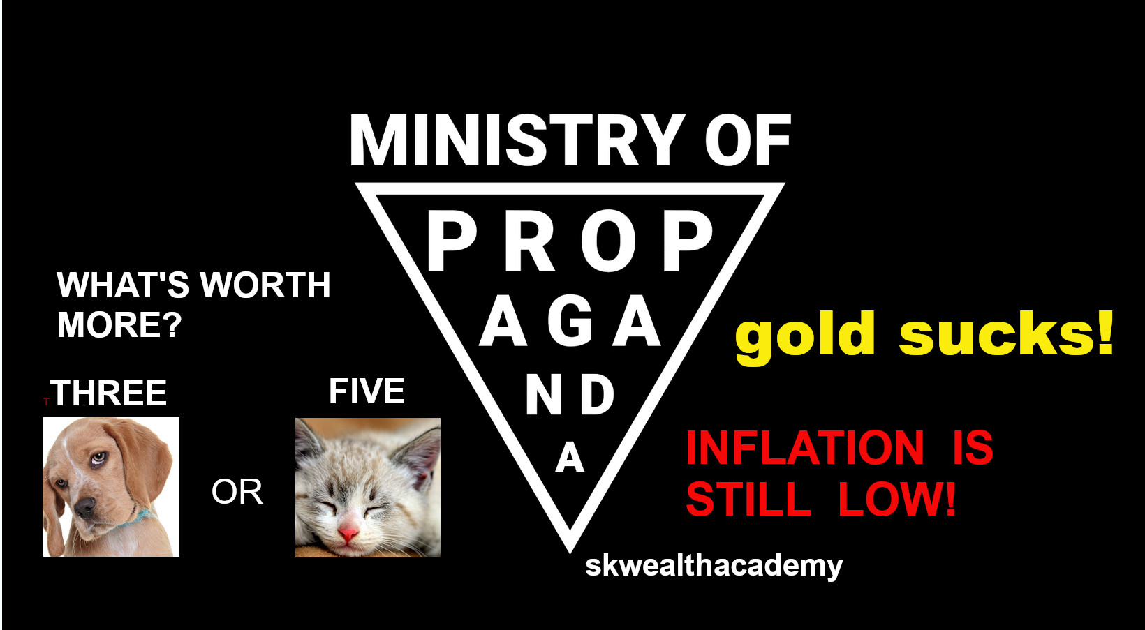 propaganda always states gold is not an inflation hedge