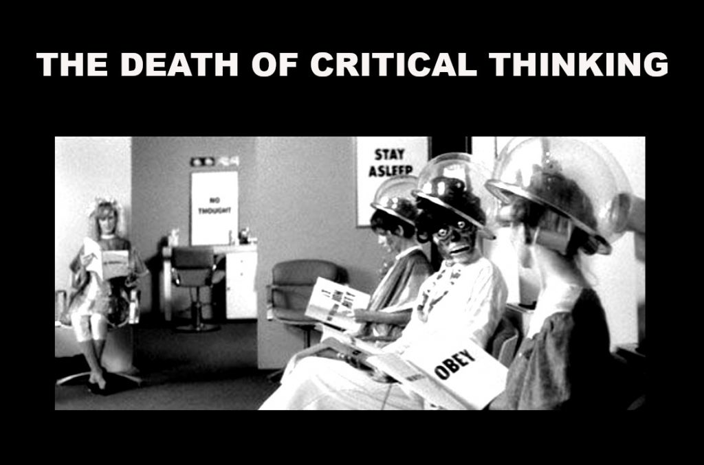 the death of critical thinking